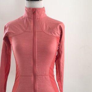 Lululemon peach pink slim fit mesh side jacket XS